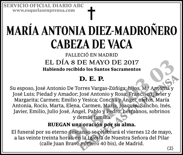 María Antonia Diez-Madroñero Cabeza de Vaca